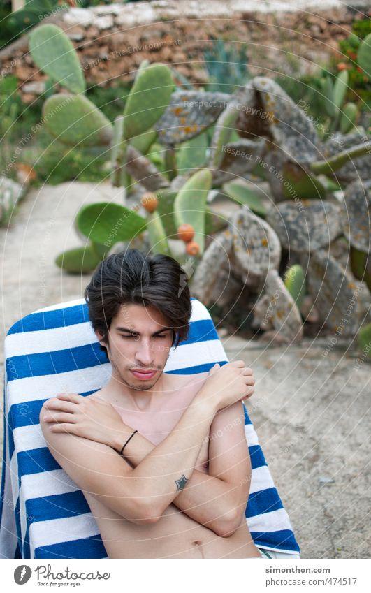 urlaub Mensch Natur Ferien & Urlaub & Reisen Jugendliche nackt Sommer Sonne Meer Erholung ruhig Strand 18-30 Jahre Ferne Erwachsene Leben Schwimmen & Baden