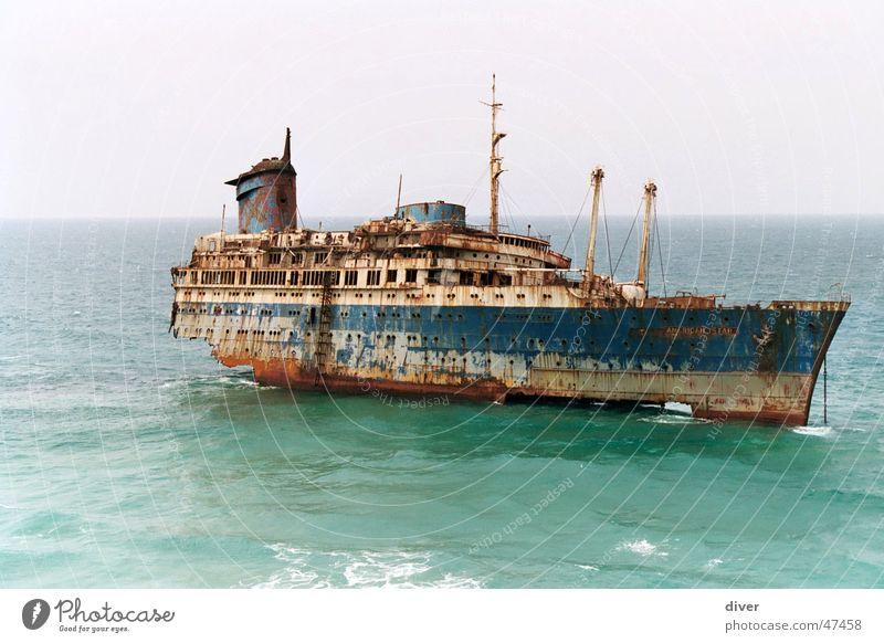 American Star Meer Traurigkeit Wasserfahrzeug Küste Trauer Rost Desaster Unfall Fuerteventura Schiffswrack Havarie Dampfschiff Schiffsunglück
