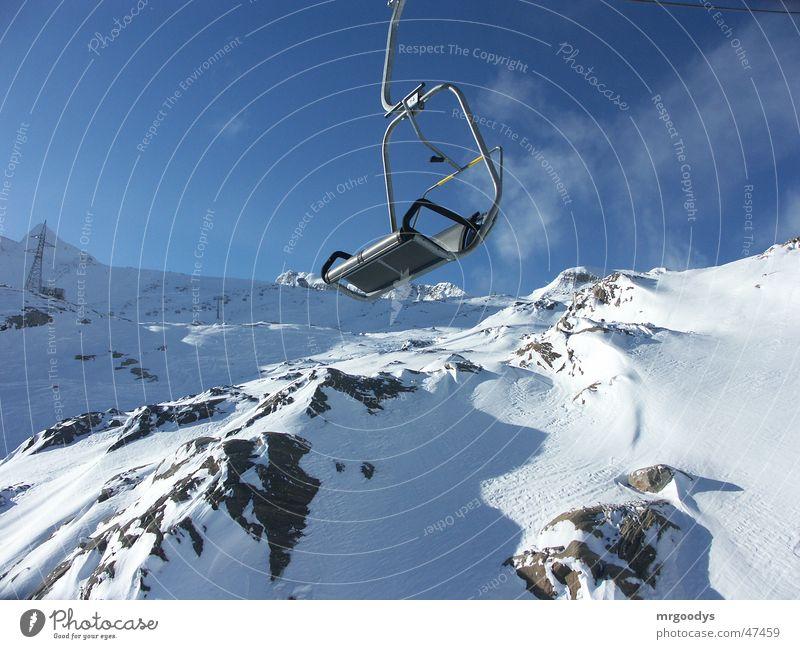 sessellift schön Schnee Europa Fahrstuhl Sessel
