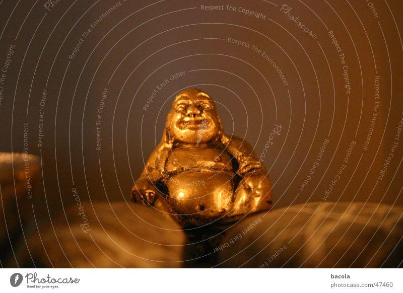 Buddha lustig gold Fröhlichkeit dick Bauch grinsen Buddha Buddhismus
