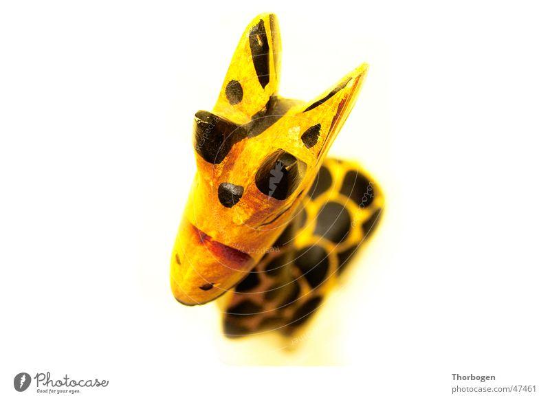 Safari 1 schwarz Tier gelb Holz Afrika Giraffe Holzfigur Schnitzereien