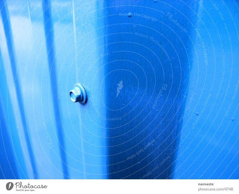 stahlblechwand Stahl Stahlblech lackiert Strukturen & Formen Industrie blau
