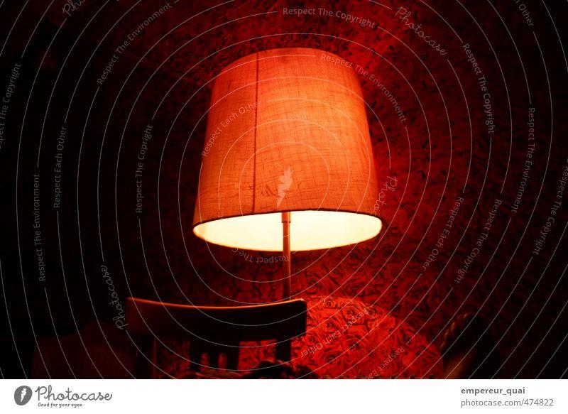 Rosenrot Design Dekoration & Verzierung Lampe Tapete Fuß Pflanze Blüte Blühend Duft Häusliches Leben Wärme Warmherzigkeit Romantik ruhig Einsamkeit