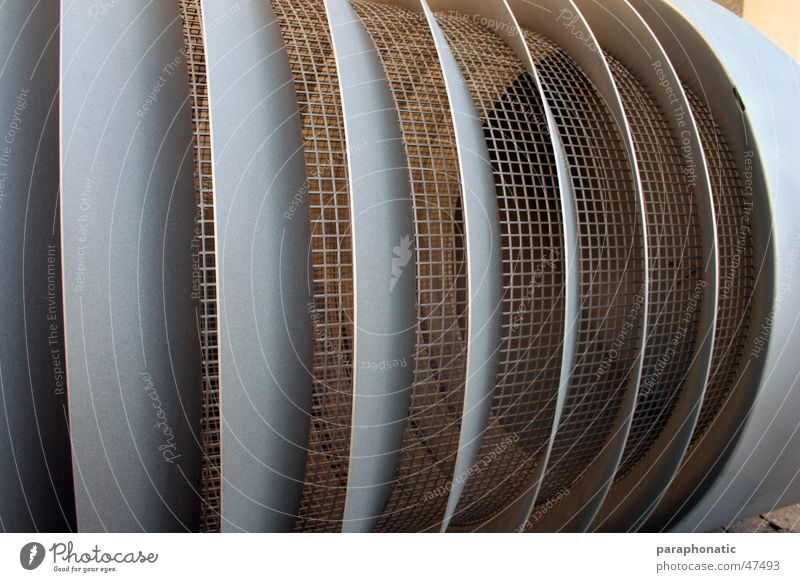 Lamellen Metall groß Macht Maschine Schornstein Gully Gerät Blech Gitter Klimaanlage