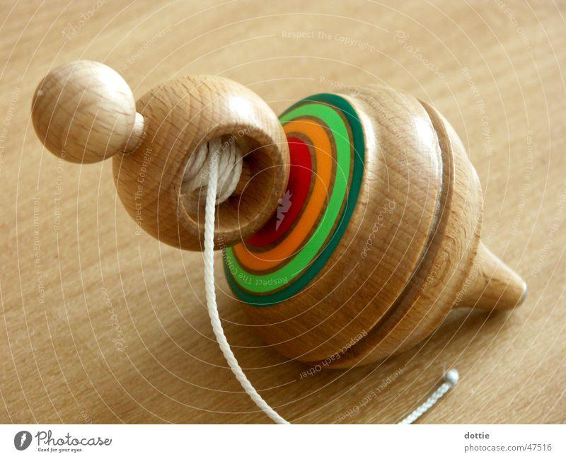 Kreisel Holz Spielzeug Schnur drehen