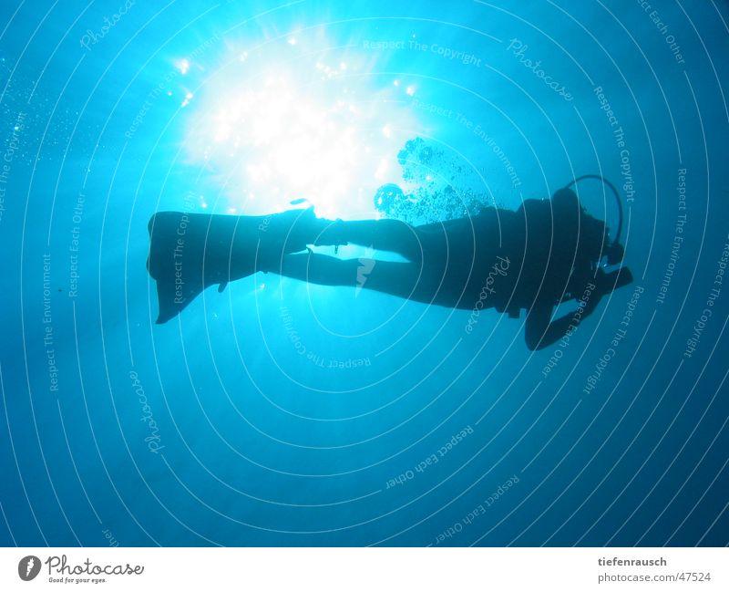 Marsa Shagra - bubbles tauchen Ägypten Gegenlicht Sonne Wasser Silhouette blasen