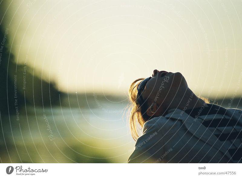frei Luft losgelöst Dämmerung Sonnenuntergang Freiheit Abend Natur diana
