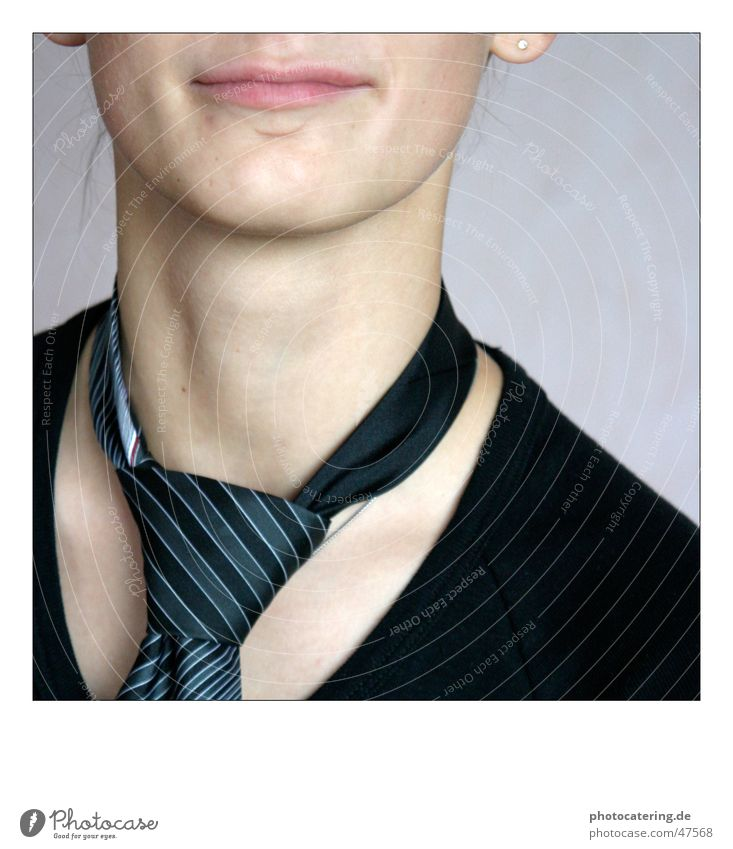 krawatte Krawatte Frau Mund Hals binder