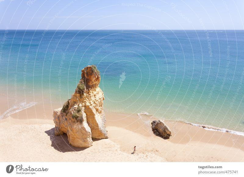 LITTLE BOY Portugal Algarve Praia do Vau Vao Felsalgarve Ferien & Urlaub & Reisen Reisefotografie Idylle Postkarte Tourismus Paradies Strand Sand Meer Atlantik