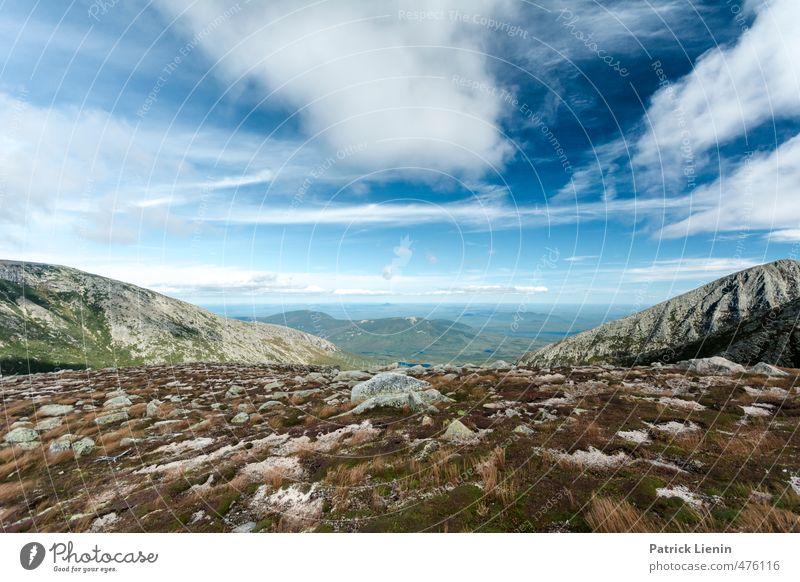 Big Blue Sky Himmel Natur Ferien & Urlaub & Reisen Pflanze Landschaft Wolken Ferne Berge u. Gebirge Umwelt Gras Freiheit Felsen Luft Wetter Lifestyle Wind