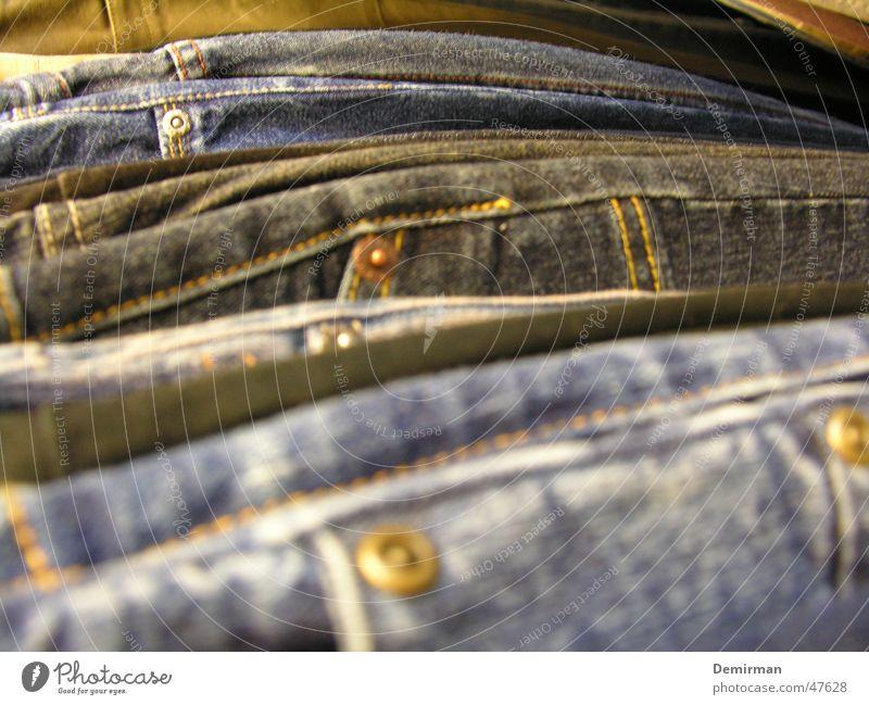 JEEEEAANS Hose Fabrikant Bekleidung anziehen Knöpfe Naht Jeanshose pants blau blue Mode