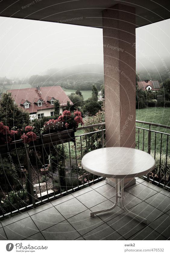 Runde Ecke Umwelt Natur Landschaft Pflanze Horizont Klima Wetter Nebel Baum Blume Gras Garten Dorf bevölkert Haus Terrasse trist Wolkendecke Tisch rund eckig