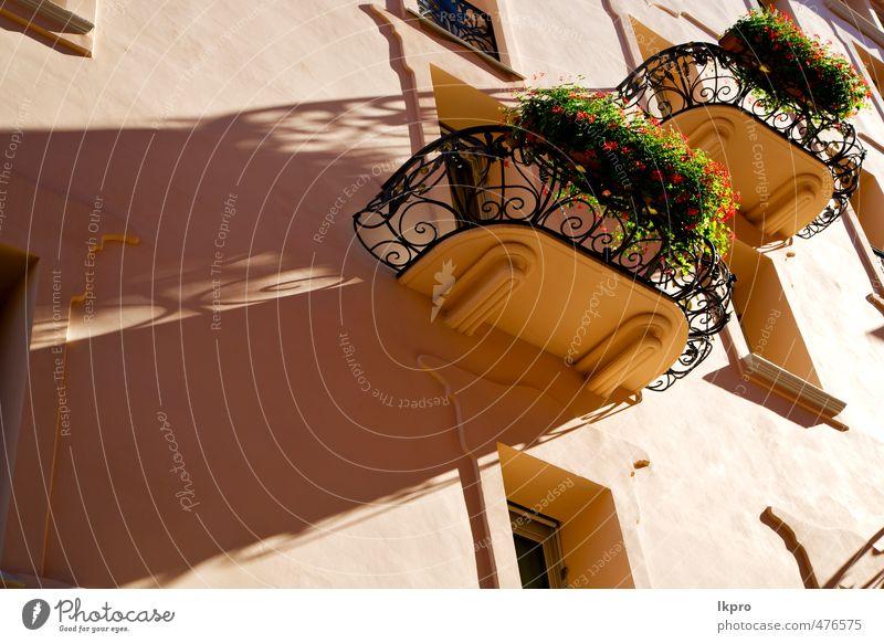 Ferien & Urlaub & Reisen alt Stadt Pflanze Blume Architektur Linie Metall Fassade dreckig offen Europa Beton Ausflug historisch Dorf