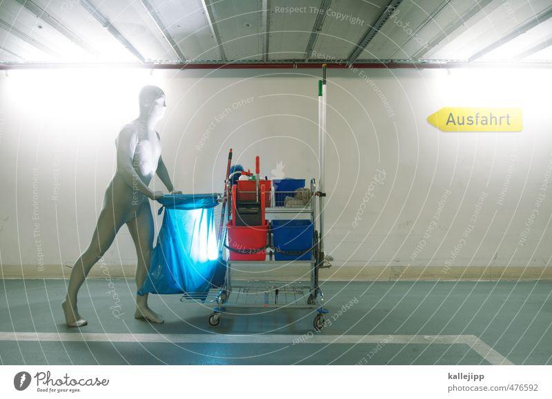 saubermann Arbeit & Erwerbstätigkeit Beruf Arbeitsplatz Dienstleistungsgewerbe Mann Erwachsene Körper 1 Mensch Reinigen Sauberkeit reinigungswagen