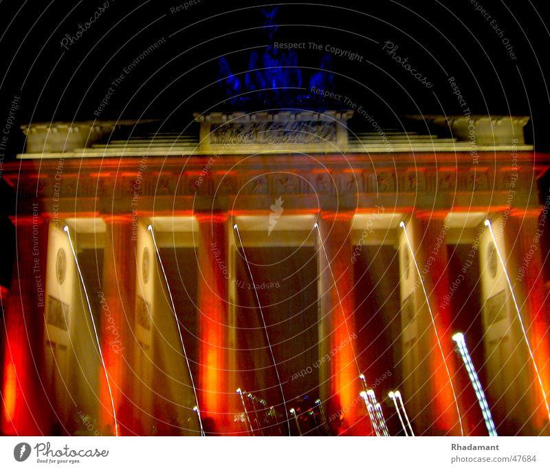 Brandenburger Tor Licht Lichtspiel Langzeitbelichtung Berlin Beleuchtung