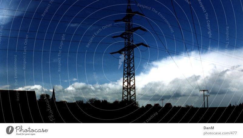powerwire Himmel Wolken Elektrizität Dorf