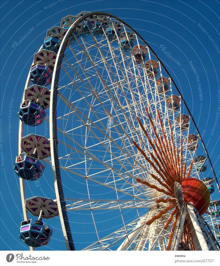 Riesenrad Freude Erholung Feste & Feiern Freizeit & Hobby Jahrmarkt Oktoberfest Riesenrad