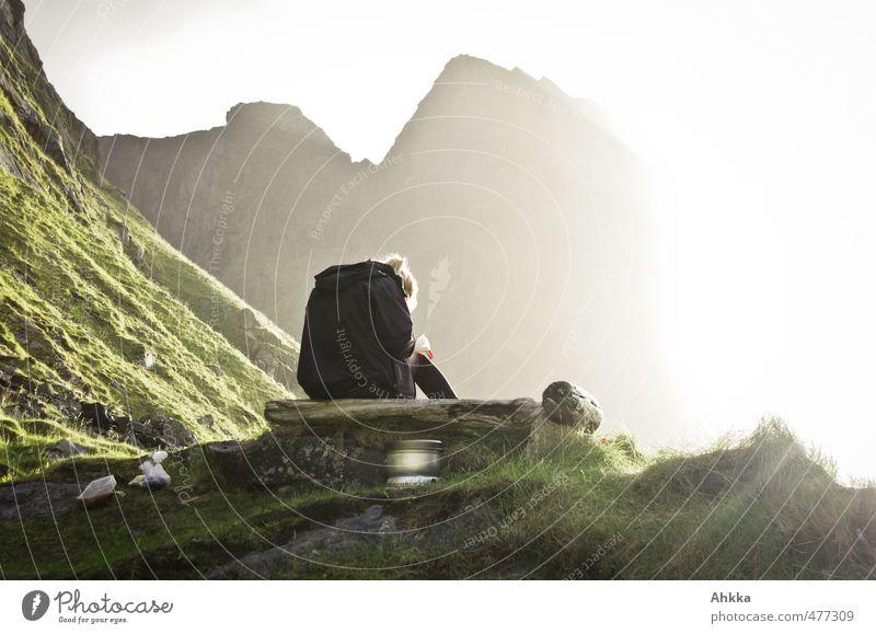 nordfor sola I Natur Ferien & Urlaub & Reisen Erholung Landschaft Ferne Berge u. Gebirge Leben feminin Freiheit Stimmung Zufriedenheit authentisch wandern