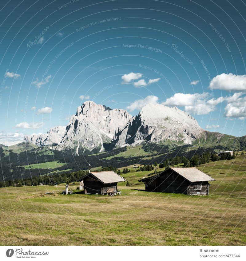 Steine im Vorgarten (1) Ferien & Urlaub & Reisen Tourismus Ausflug Erde Luft Himmel Wolkenloser Himmel Sommer Schönes Wetter Wiese Wald Hügel Felsen Alpen