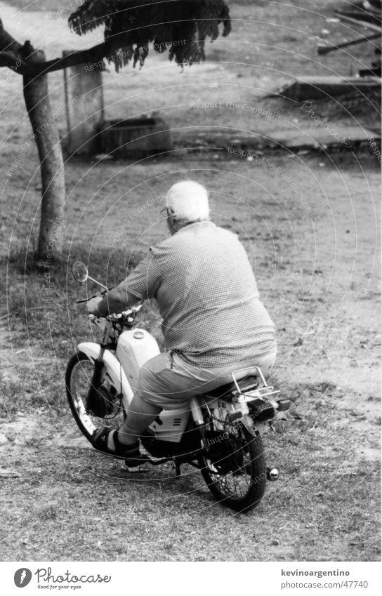 Fettes Moped Motorrad Übergewicht dick Kleinmotorrad Argentinien