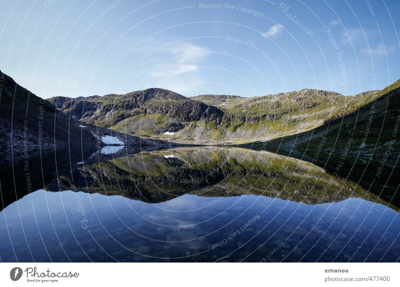 Auf Spiegelbergen Ferien & Urlaub & Reisen Tourismus Expedition Sommer Berge u. Gebirge wandern Natur Landschaft Wasser Himmel Horizont Wetter Schnee Hügel