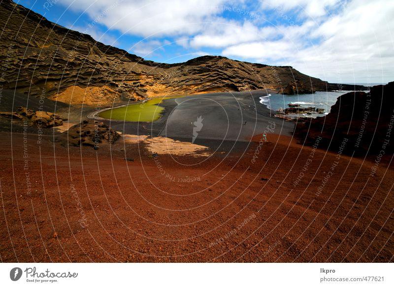 spanischer Moschusteich Ferien & Urlaub & Reisen Tourismus Ausflug Sommer Strand Meer Insel Wellen Natur Landschaft Sand Himmel Wolken Hügel Felsen Küste Teich