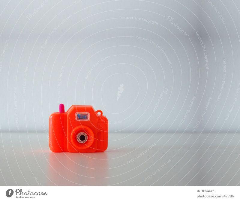 MiniFoto rot ruhig orange Fotografie klein Fotokamera Spielzeug Neonlicht Fotografieren Sucher Brennpunkt Miniatur Klacken