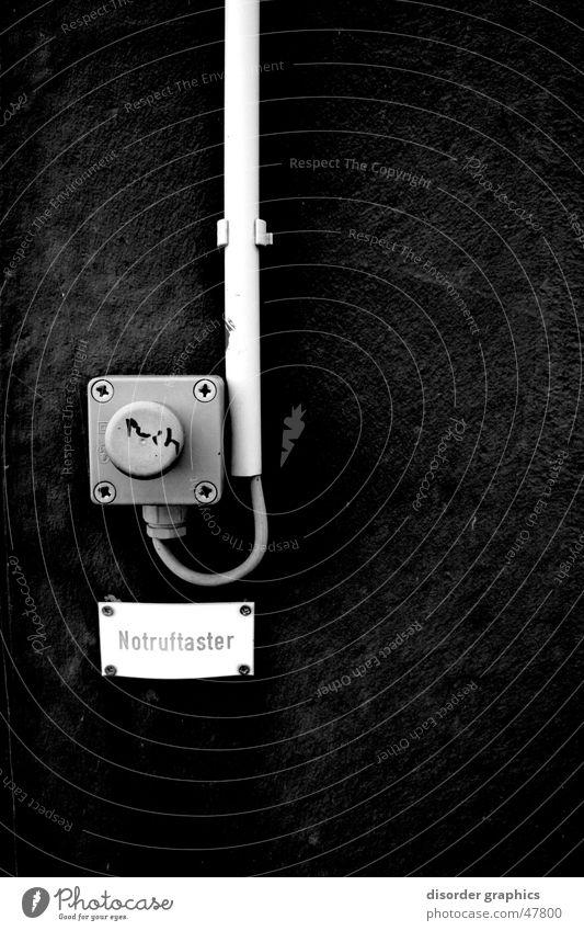 push the button weiß schwarz Elektrizität Kabel Knöpfe Schalter Notrufauslöser