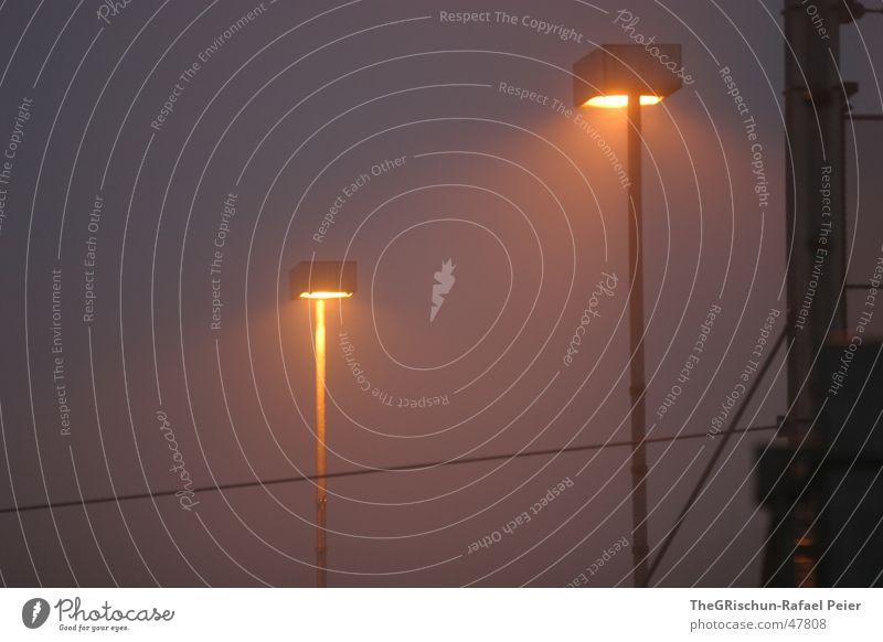 Zweilicht Licht Nebel 2 brennen kalt Winterthur Morgen Reinigen