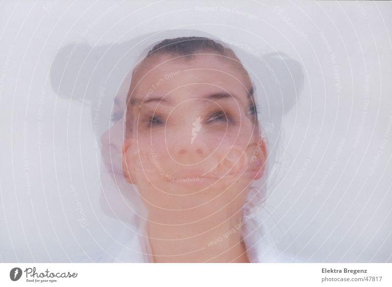 woman, Frau, mujer feminin Erwachsene Gesicht 1 Mensch 18-30 Jahre Jugendliche Schauspieler schwarzhaarig Surrealismus Doppelbelichtung Dia Farbfoto