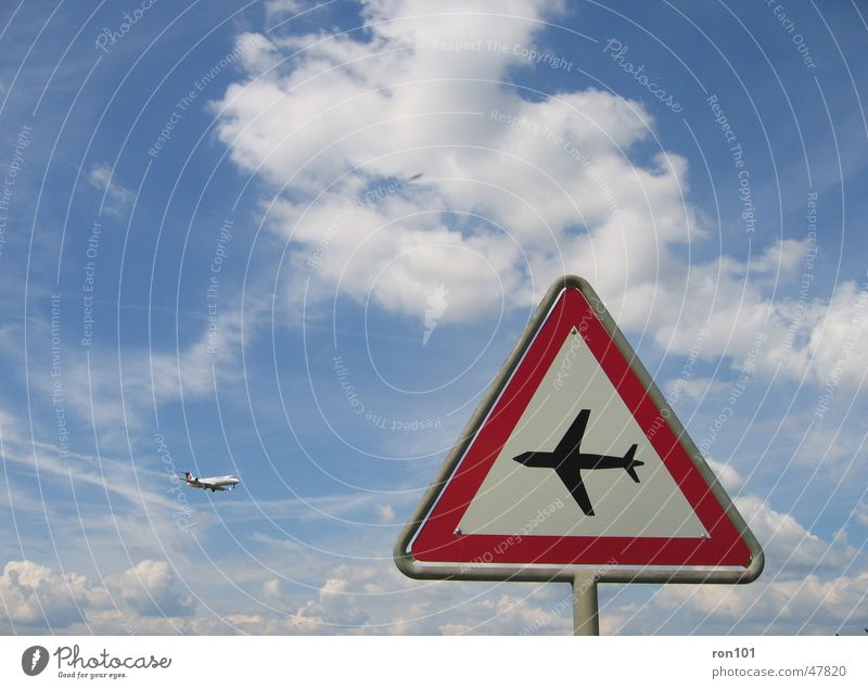 8-tung Flieger Himmel weiß blau rot Wolken Flugzeug Schilder & Markierungen Respekt Verkehrsschild
