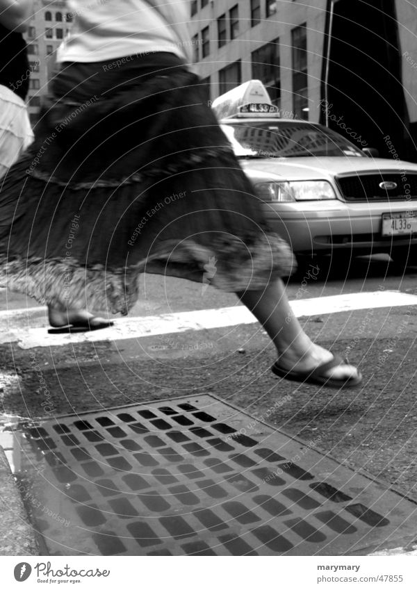 Everyday life in New York New York City Taxi Frau Straße