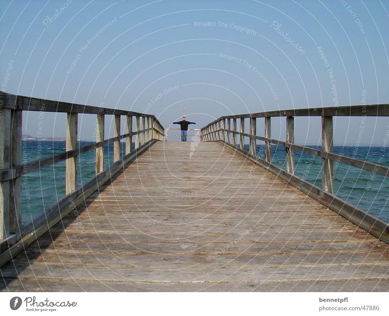 Freiheit Meer Gefühle Wege & Pfade See Aussicht Steg Ostsee