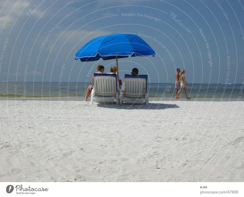 Ft.Myers Beach Meer blau Sommer Strand Ferien & Urlaub & Reisen Sand mehrere USA Freizeit & Hobby Regenschirm Schwimmen & Baden heiß Sehnsucht Bikini Amerika beige
