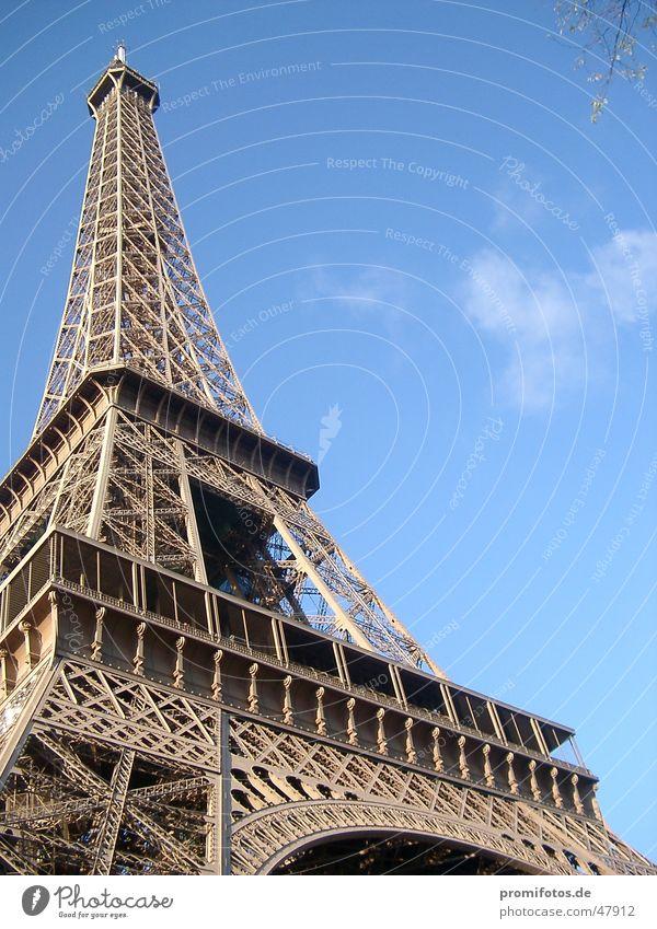 Eiffelturm Frankreich Paris Tour d'Eiffel Tourismus Bauwerk Stahl Kunst Metall Turm Sehenswürdigkeit
