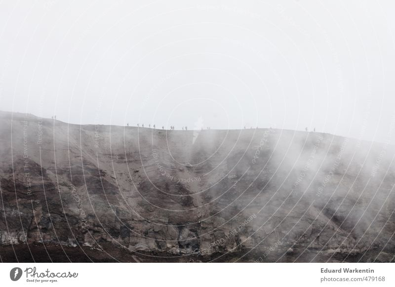 Tanz auf dem Vulkan sportlich Freizeit & Hobby Sport Klettern Bergsteigen Sportler wandern Mensch maskulin feminin Frau Erwachsene Mann Freundschaft