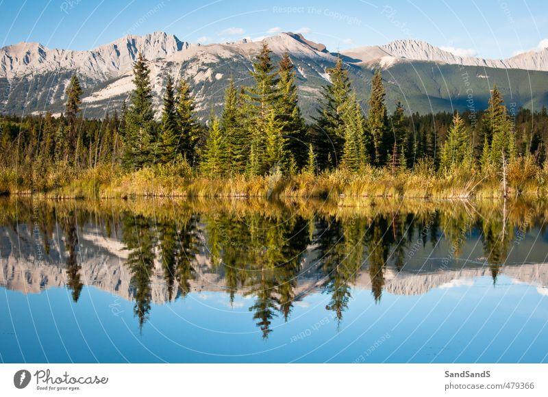 Jasper Nationalpark schön Ferien & Urlaub & Reisen Sommer Berge u. Gebirge Spiegel Natur Landschaft Himmel Baum Park Hügel Felsen Küste See Wege & Pfade