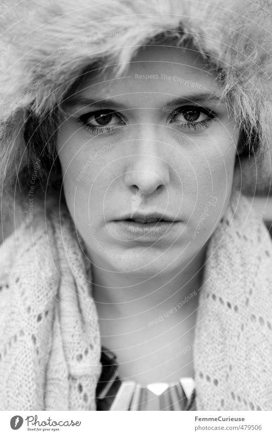 Mysterious Woman (II). Mensch Frau Jugendliche schön Stadt Junge Frau Gesicht Erwachsene 18-30 Jahre Wärme feminin Stil Kopf Mode elegant Lifestyle