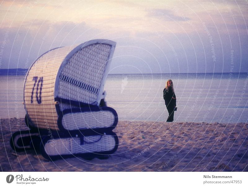 Strandidylle in Binz Meer Strandkorb Stimmung Ferien & Urlaub & Reisen Rügen Wasser