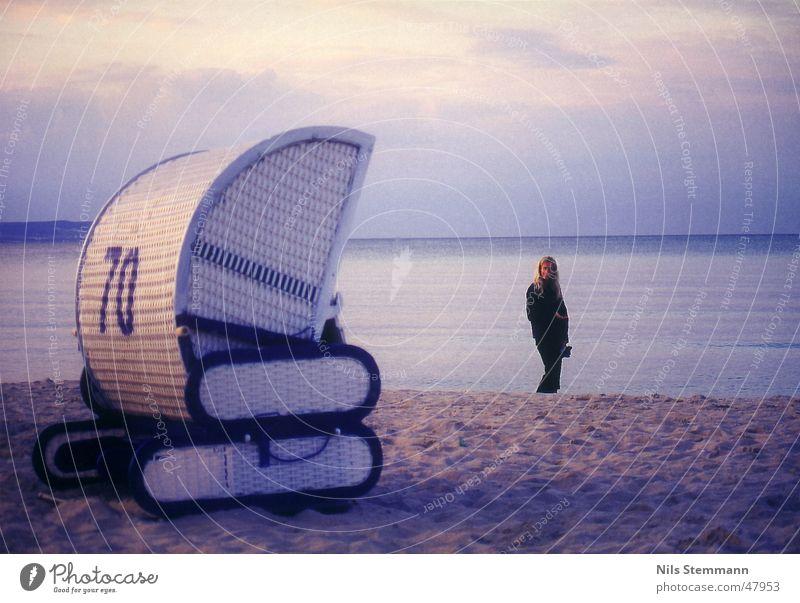 Strandidylle in Binz Wasser Meer Ferien & Urlaub & Reisen Stimmung Strandkorb Rügen