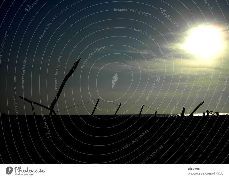 sonnenuntergang am meer Meer Sonnenuntergang Hintergrundbild Landschaft Himmel