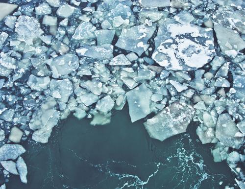 Klimawandel Natur Wasser Meer Winter kalt Bewegung Wege & Pfade Eis Geschwindigkeit Zukunft Urelemente Vergänglichkeit Wandel & Veränderung Frost Unendlichkeit