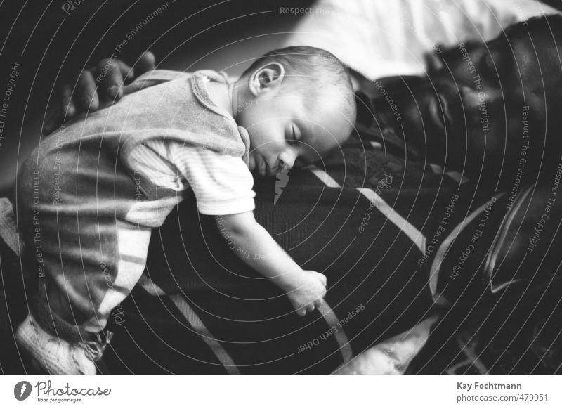 ° harmonisch Wohlgefühl Zufriedenheit Erholung ruhig Mensch Baby Mann Erwachsene Eltern Vater Familie & Verwandtschaft Leben 2 0-12 Monate 30-45 Jahre strampler