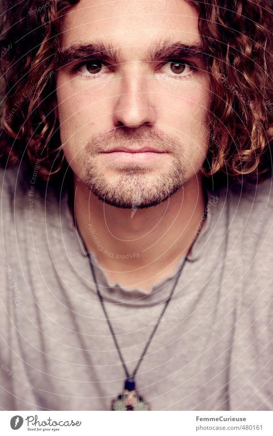 Man (III). Mensch Jugendliche Mann Erholung Junger Mann Gesicht Erwachsene 18-30 Jahre Haare & Frisuren grau Stil Kopf maskulin Zufriedenheit Lifestyle einzigartig