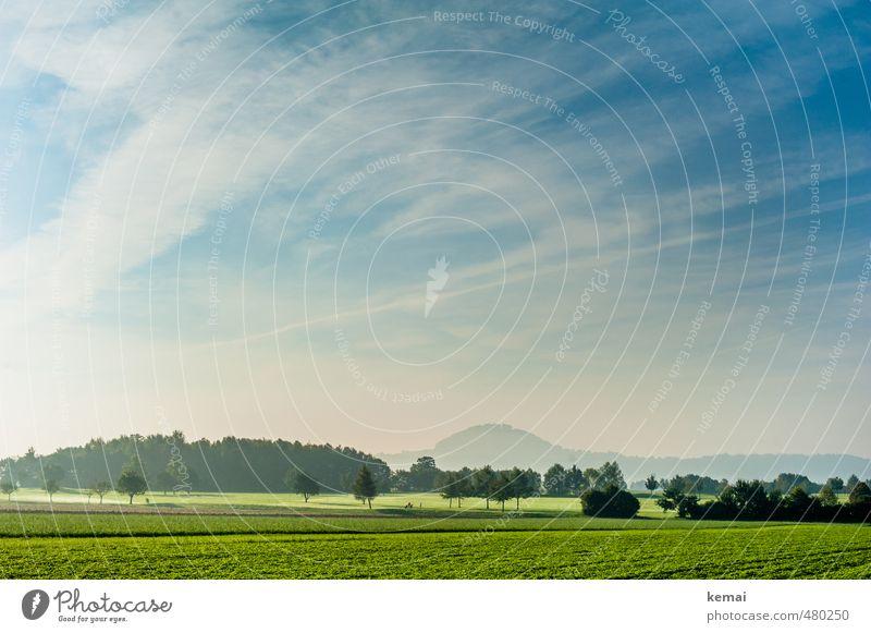 Love your Heimat // Der Hohenstaufen Himmel Natur blau schön grün Pflanze Baum ruhig Landschaft Wolken Ferne Wald Umwelt Berge u. Gebirge Herbst Gras