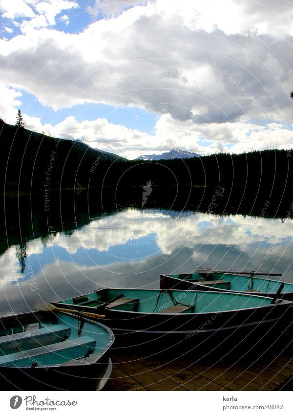Der perfekte Tag Wolken Wald See Wasserfahrzeug Reflexion & Spiegelung weiß türkis Ferien & Urlaub & Reisen ruhig Kanada British Columbia Sommer 2