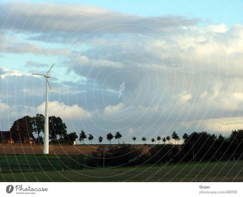 Der Himmel über Coesfeld Wolken Allee Feld Wolkenhimmel Horizont Ferne harmonisch positiv Zukunft alternativ Elektrizität Landschaft Außenaufnahme sky Skyline