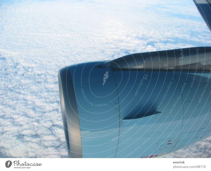 Triebwerk Himmel Wolken Flugzeug Triebwerke
