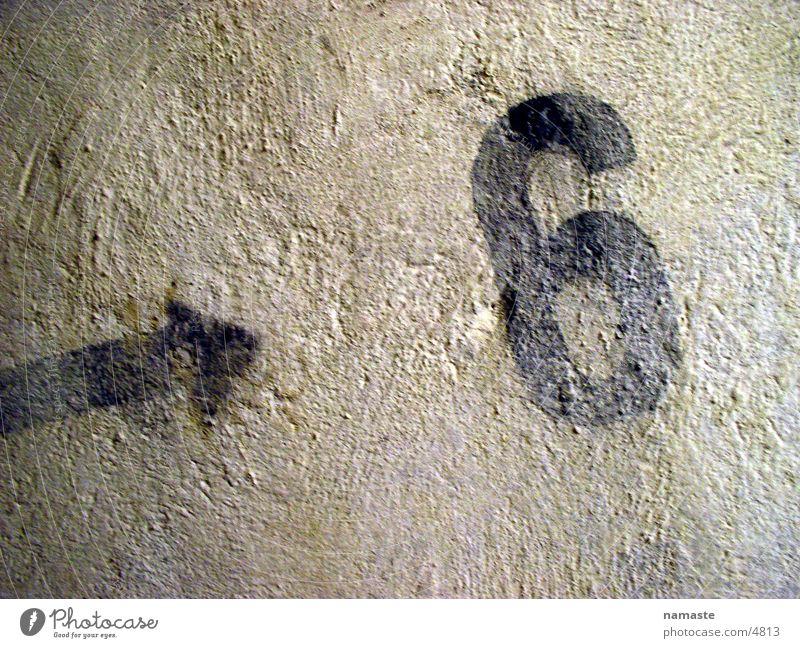 bunker sign Beton Freizeit & Hobby Ziffern & Zahlen Zeichen 6 Bunker