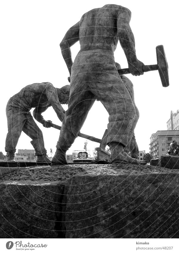 Train workers Mann Eisenbahn Denkmal Mexiko Arbeiter Veracruz